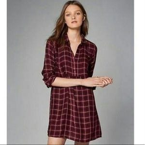 Abercrombie & Fitch Red Plaid Dress